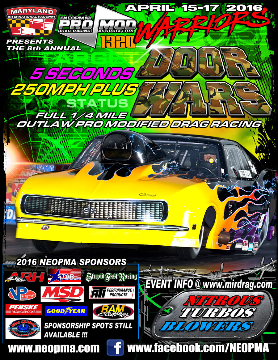 Renegade Race Fuel >> NEOPMA Door Wars April 15-17th Maryland International Raceway