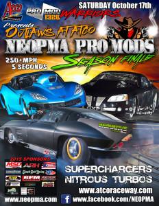 Atco Dragway Pro mods Event Flyer design
