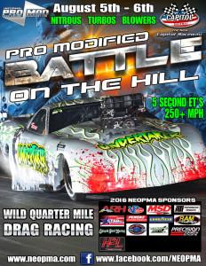 Northeast Outlaw Pro Mods Capitol Raceway NEOPMA August