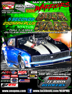 NEOPMA Pro Mods Invade 9th Annual Haltech Door Wars Pro Modified Drag Racing 2017 Maryland International Raceway 2017