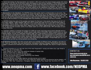 NEOPMA Pro Mod Series Sponsorship Proposal Handout
