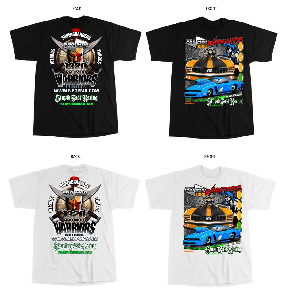 Official Neopma Series Pro Modified Drag Racing T Shirts