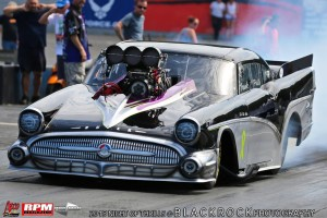 Frank Patille shows the Buick Pro Mod Power at NEOPMA Atco