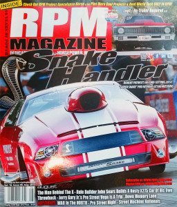 Robert Patricks Super Snake Pro Mod Mustang On The Cover Of August RPM Magazine