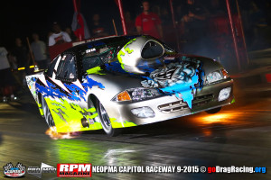 Rob Hunnicutt Launching Hard, mixing up cylinders in his Cavalier Pro Mod