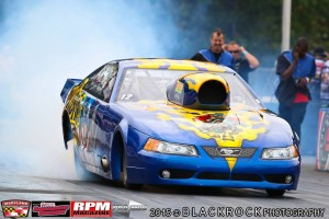 Jeff Rodgers ran tough in the executioner Mustang Pro Mod