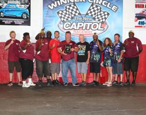 Jim Bradshaw accepts NEOPMA Award at Battle On The Hill Pro Mod Race