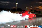 Ed Burnley Camaro Pro Mod Brutal nighttime burnout