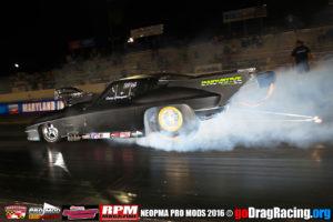 Casey Stemper Smoking the Corvette Pro Mod tires on his burnout