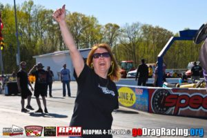 Kendra McCurdy celebrates another win