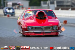 Ed Burnley's Iron Man Camaro Pro Mod in the 5 second zone easily