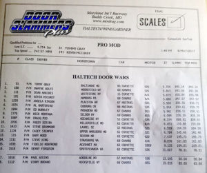 Final Qualifying Results courtesy of Door Slammers Plus