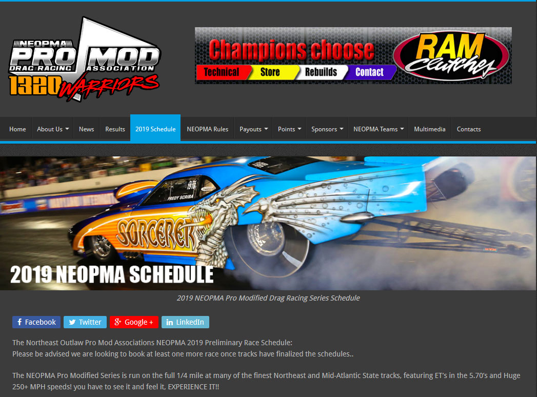 Northeast Outlaw Pro Mods Release 2019 Schedule - Northeast Outlaw
